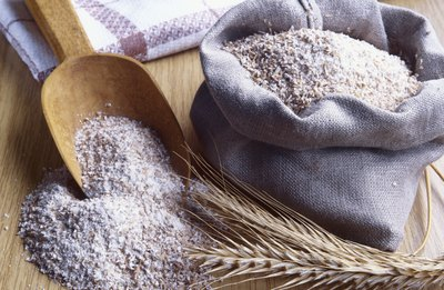 Wheat flour contains a high amount of starch.