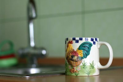 Rooster theme on ceramic mug