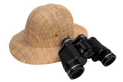 Accessorize your safari costume with a pith helmet and binoculars.