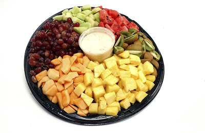 Fruit trays are good for church groups.