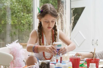 Crafting parties keep everyone occupied and give them something to take home.
