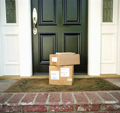 Care packages in front of door
