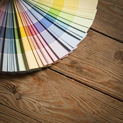 Assorted paint chip colours