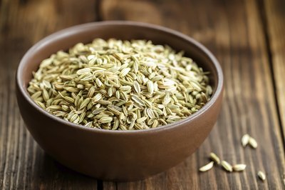 Bowl of fennel seeds.