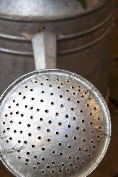 Close up of watering can