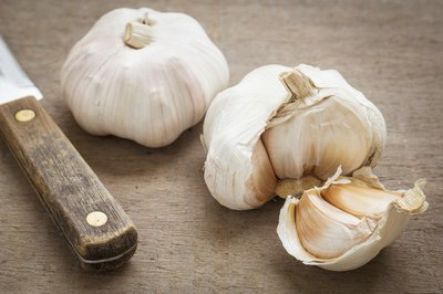 Garlic bulb and cloves.