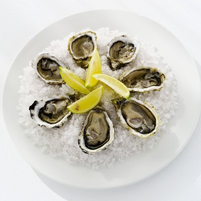 Shucked Oysters on Ice