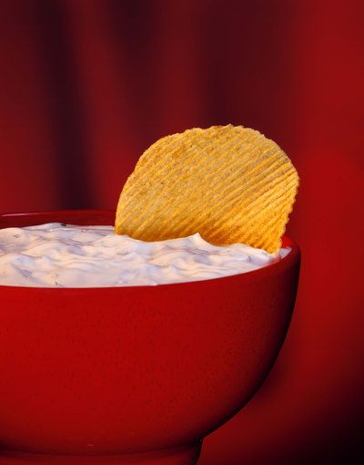 Serve chips and dip.