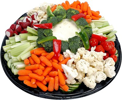 Serve a vegetable tray.