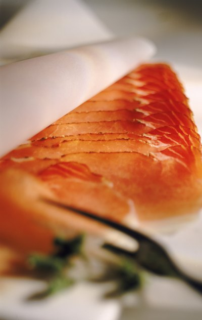 Close up of salmon
