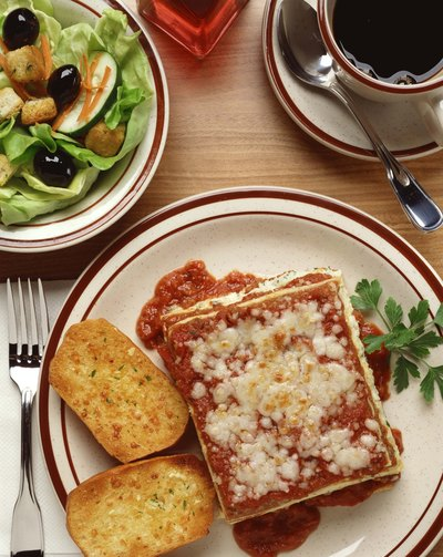 Serve a three-course lasagna dinner.
