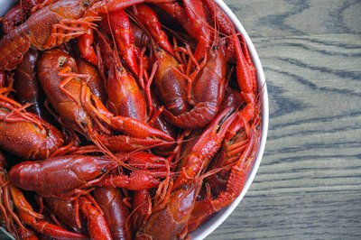 A bowl of boiled crawfish.