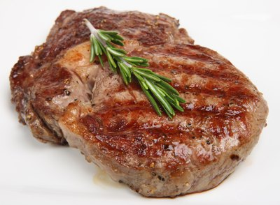 Rib eye steak.