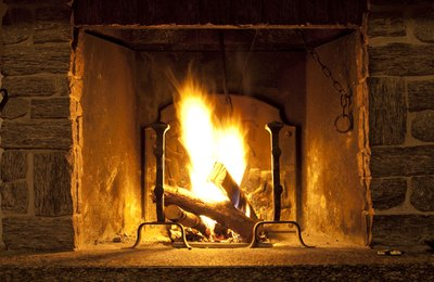 Gas fireplaces are more efficient than wood-burning hearths.