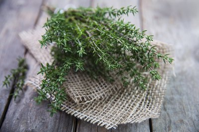 A bunch of fresh thyme.