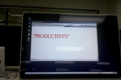 Word processors are productive in classrooms