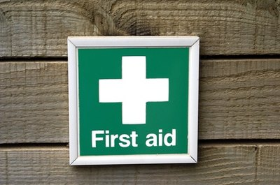 First aid for dogs can include human triple antiobiotic cream if properly applied.