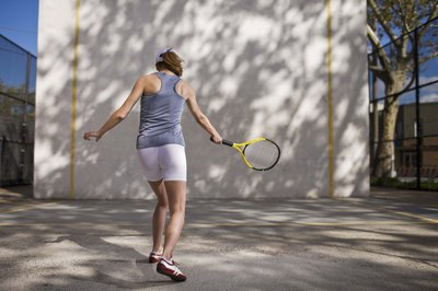 Hitting against a wall helps improve your strokes.