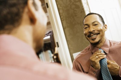 Use a mirror or video recording to check your appearance and body language.
