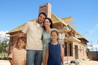Building a house requires plenty of planning and money.