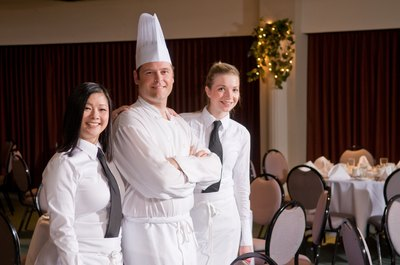 Banquet chefs oversee food service at hotels and party centers.
