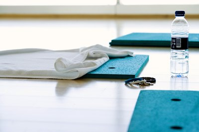 The right exercise mat protects you from slipping and sliding.