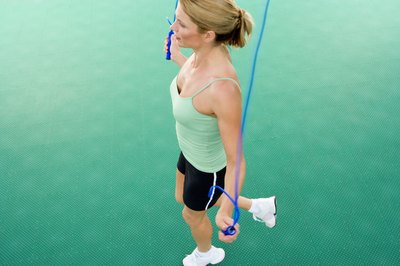 Running while jumping rope helps you add variety to the routine.