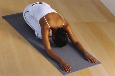Calming poses, such as Child's pose, reduce stress that can contribute to irregular periods.