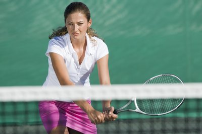 Tennis involves quick movements that work the legs.
