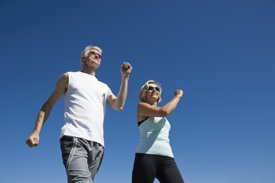 Brisk walking helps improve your heart health.