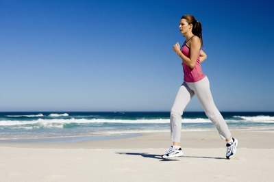 Running at an uptempo pace helps you burn calories quickly.