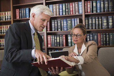 Lawyers often work in offices and conduct research in libraries.