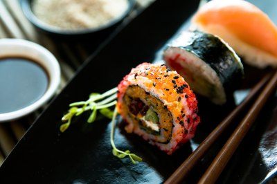 An apprenticeship could help you to become a sushi chef.