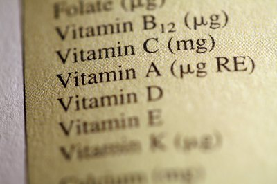 Numerous vitamins are required for proper health.