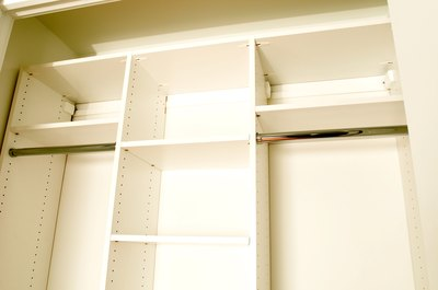 """Expensive closet systems are sometimes offered at budget prices in """"as is"""" departments."""