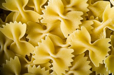 You can measure out pasta before cooking to ensure accurate serving sizes.