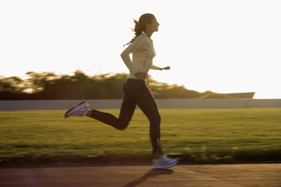 The body starts burning fat during a run after other energy stores are used up.