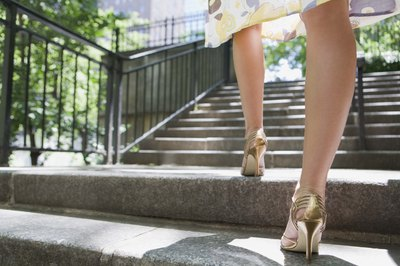 Strong calves can help you to be stable in high heels.