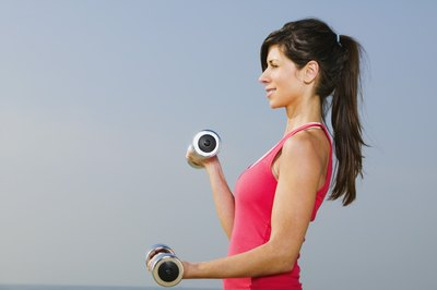 Weight train to strengthen and shape your muscles.