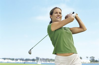 Tighten your golf swing for maximum power.