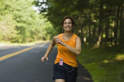 Increase your serotonin production by running outside in the sunshine.