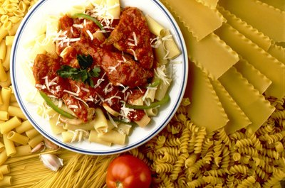 Pasta is a rich source of carbohydrates.