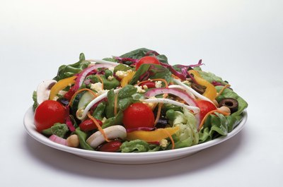 Colorful salads are the most nutritious.
