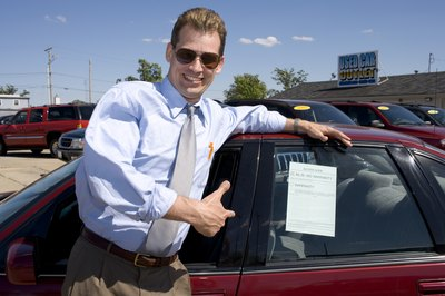 You can often find salvage title cars at a used-car dealership.