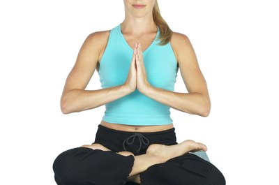 Lotus pose is a typical asana you'll encounter in yoga class.