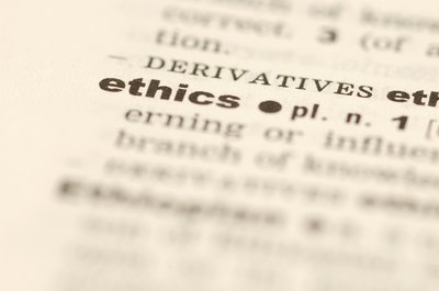Defining your professional ethics helps you choose an employer with compatible ethics.