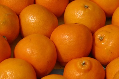 Oranges are high in vitamin C and potassium.
