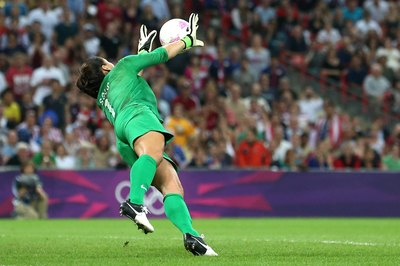 Goalkeeper Hope Solo helped the U.S. win the 2012 Olympic gold medal.