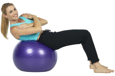 Use a stability ball to enhance your muscle-strengthening exercises.