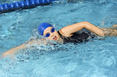 Get your heart racing with a swimming workout.